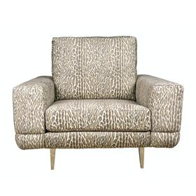 """Contemparary style wide track arm chair and a half. Shown with 8"""" Plinth base. Also available with 8"""" Tapered round, 8"""" Pyramid, or 8"""" Square tube legs."""