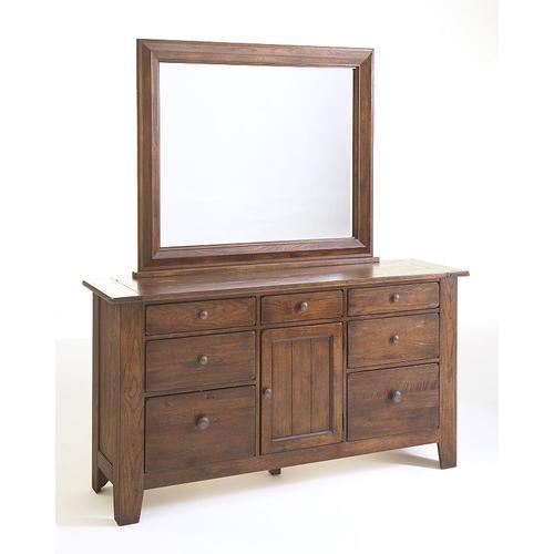 Attic Heirlooms Dresser Mirror, Rustic Oak Stain