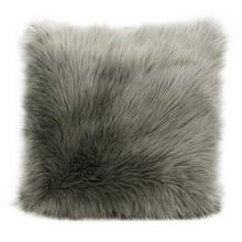 "Fur Fl101 Silver Grey 1'10"" X 1'10"" Throw Pillow"