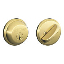 Bright Brass Keyed 1-Side Deadbolt