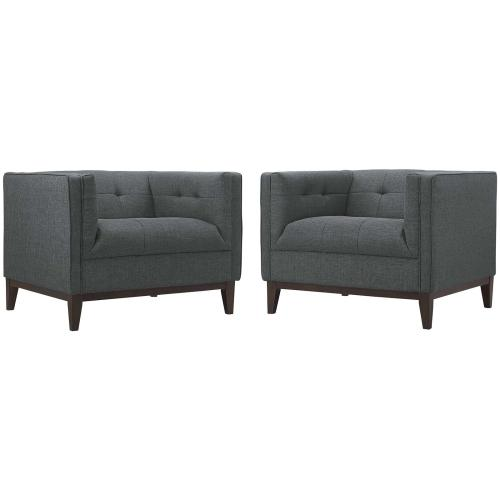 Serve Armchairs Set of 2 in Gray