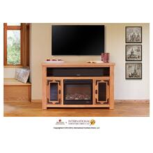 View Product - Lodge Fire Place & TV-Stand w/2 doors & space for soundbar