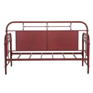 Twin Metal Day Bed - Red