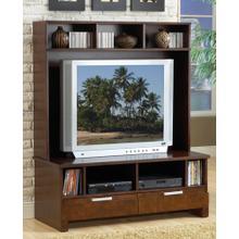 See Details - Espresso Plasma TV Stand Top
