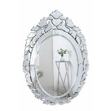 Venetian 32.75 in. Transitional Mirror in Clear