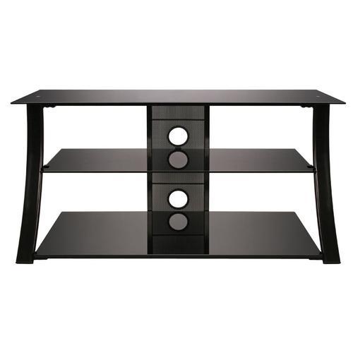 Product Image - High Gloss Black Finish Flat Panel Audio/Video Furniture
