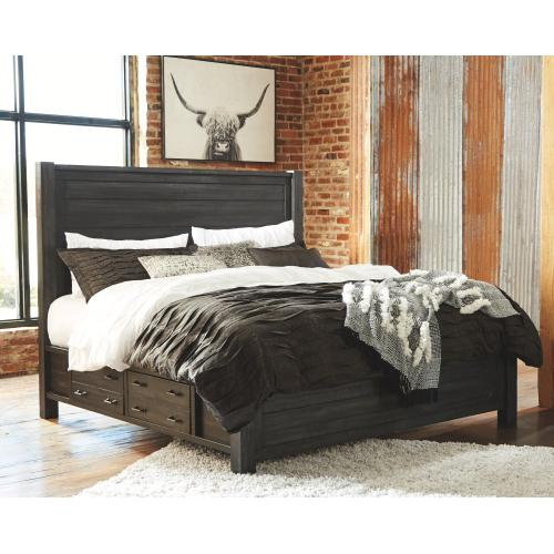 Baylow Queen Panel Bed With 4 Storage Drawers