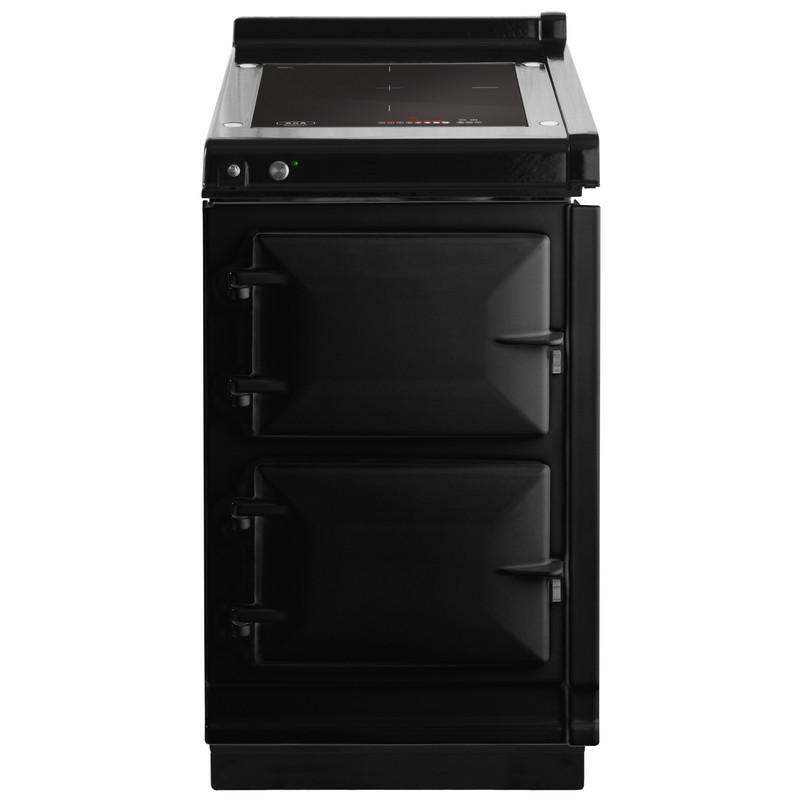 """AGAAga Hotcupboard 20"""" Induction Black With Stainless Steel Trim"""