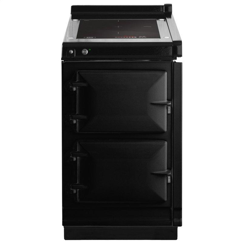 """AGA Hotcupboard 20"""" Induction Black with Stainless Steel trim"""