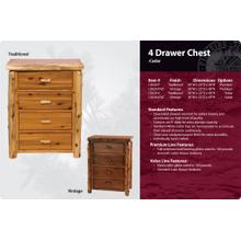4 Drawer Chest -Traditional