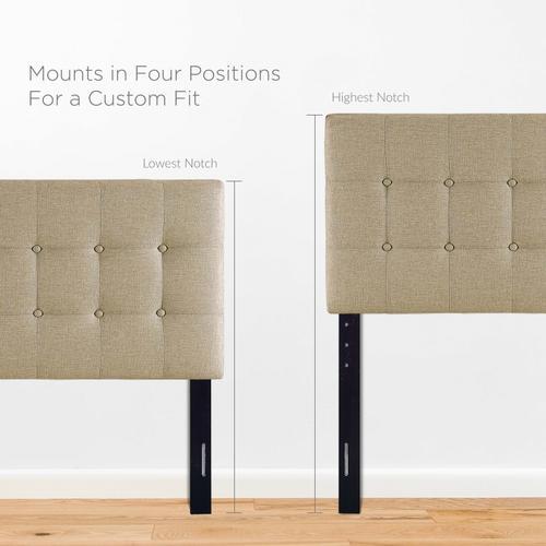 Modway - Emily Twin Upholstered Fabric Headboard in Beige