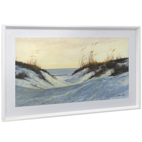 Style Craft - BEACH ENTRY I  21in w X 35in ht  Framed Print Under Glass with Matte