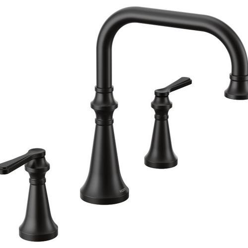 Colinet matte black two-handle roman tub faucet