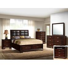 Jacob King Storage Bed Pu Headboad