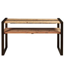 Reclaimed Wood & Metal Sofa Table