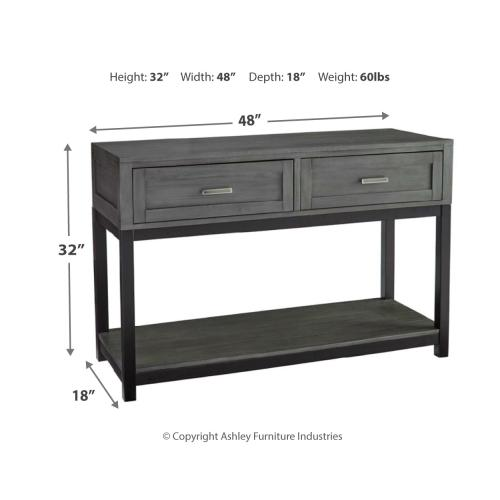 Caitbrook Sofa/console Table