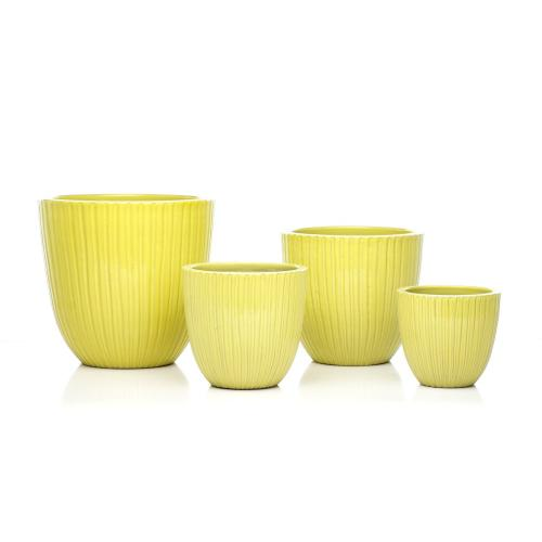 Lemon Drop Planter - Set of 4