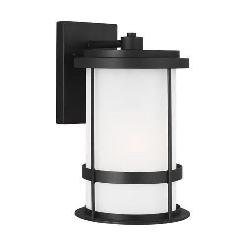 Wilburn Medium One Light Outdoor Wall Lantern Black Bulbs Inc
