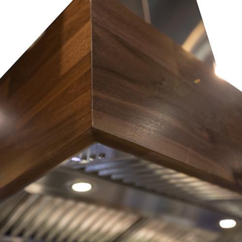 ZLINE Designer Series Wooden Island Mount Range Hood in Butcher Block (681iW) [Size: 48 inch]