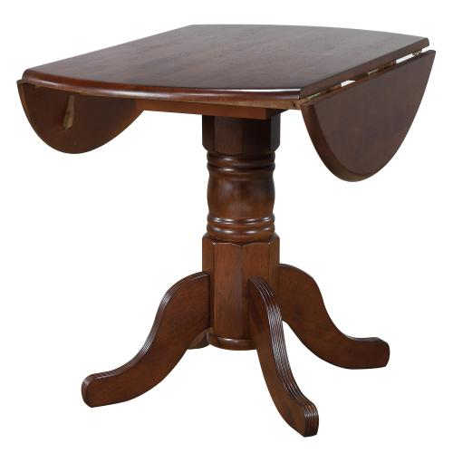 Product Image - Round Drop Leaf Dining Set w/Arrowback Chairs (3 Piece)
