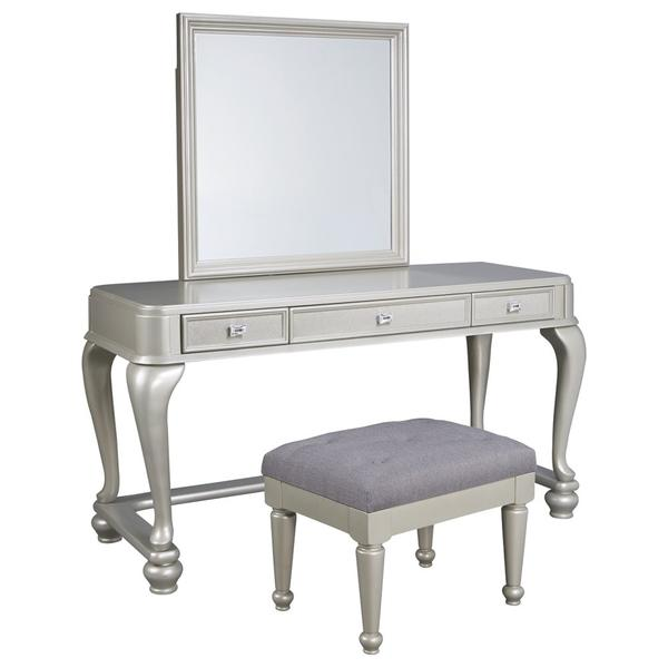 See Details - Youth Mirrored Vanity With Chair