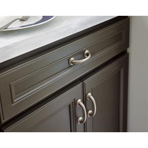 Kingsley brushed nickel drawer pull