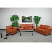 HERCULES Diplomat Series Reception Set in Cognac LeatherSoft