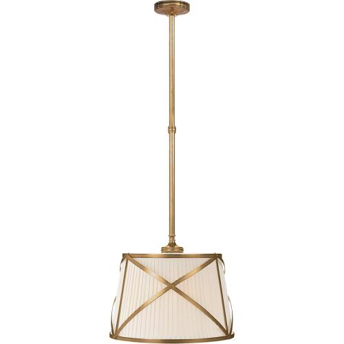 Visual Comfort CHC1480AB-L E. F. Chapman Grosvenor 2 Light 15 inch Antique-Burnished Brass Hanging Shade Ceiling Light