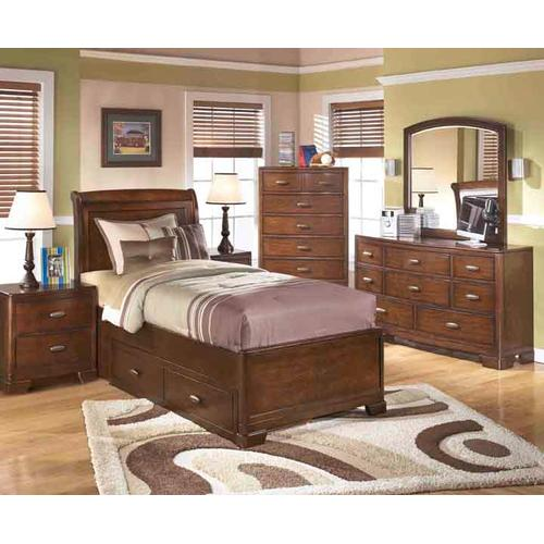 Pedestal Storage Bed