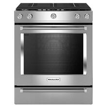 30-Inch 5-Burner Gas Convection Front Control Range - Stainless Steel