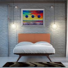 See Details - Tracy 3 Piece Queen Bedroom Set in Cappuccino Orange
