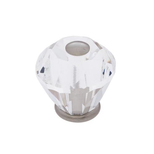 Satin Nickel 30 mm Diamond Cut Knob