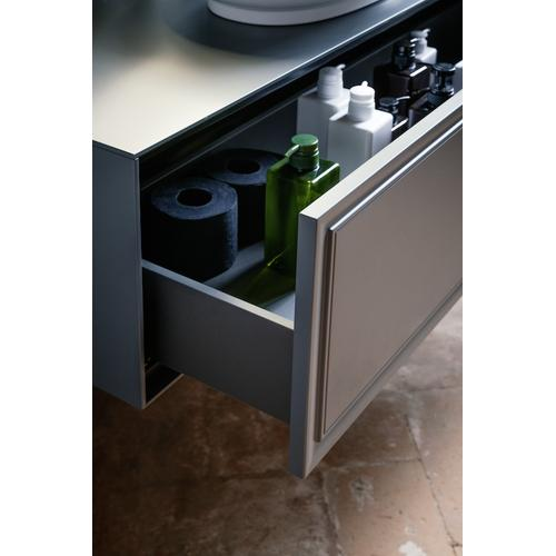 White Matte Drawer element 1200, 1 drawer, with centre cut-out, matches bowl washbasins 812852, 812853