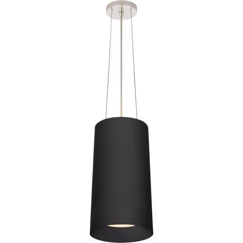 Visual Comfort BBL5088BLK Barbara Barry Halo 1 Light 10 inch Matte Black Hanging Shade Ceiling Light, Tall