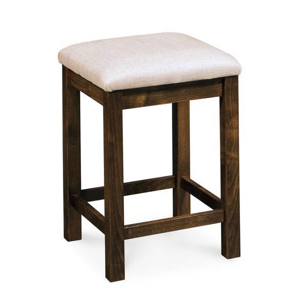 "Sheffield Backless Stationary Barstool, Sheffield Backless Stationary Barstool, 30""h, Fabric Seat"