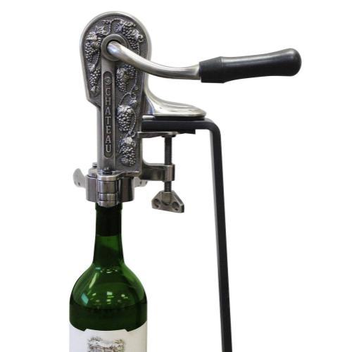 Epicureanist Pewter Connoisseur Wine Opener and Black Granite Stand
