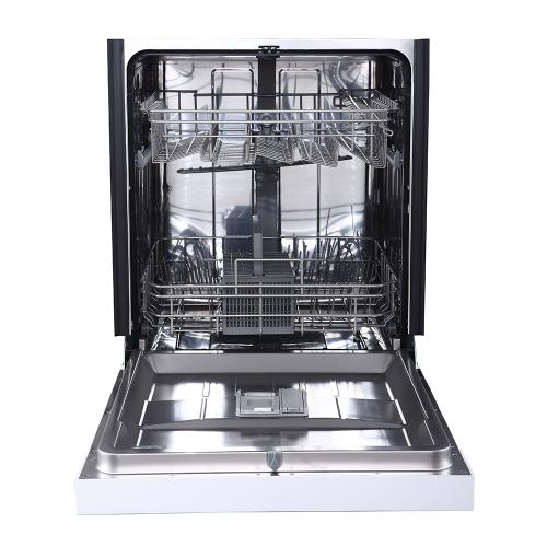 """GE 24"""" Built-In Front Control Dishwasher with Stainless Steel Tall Tub White - GBF412SGMWW"""