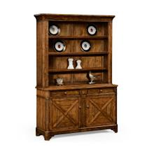 Country living style walnut dresser