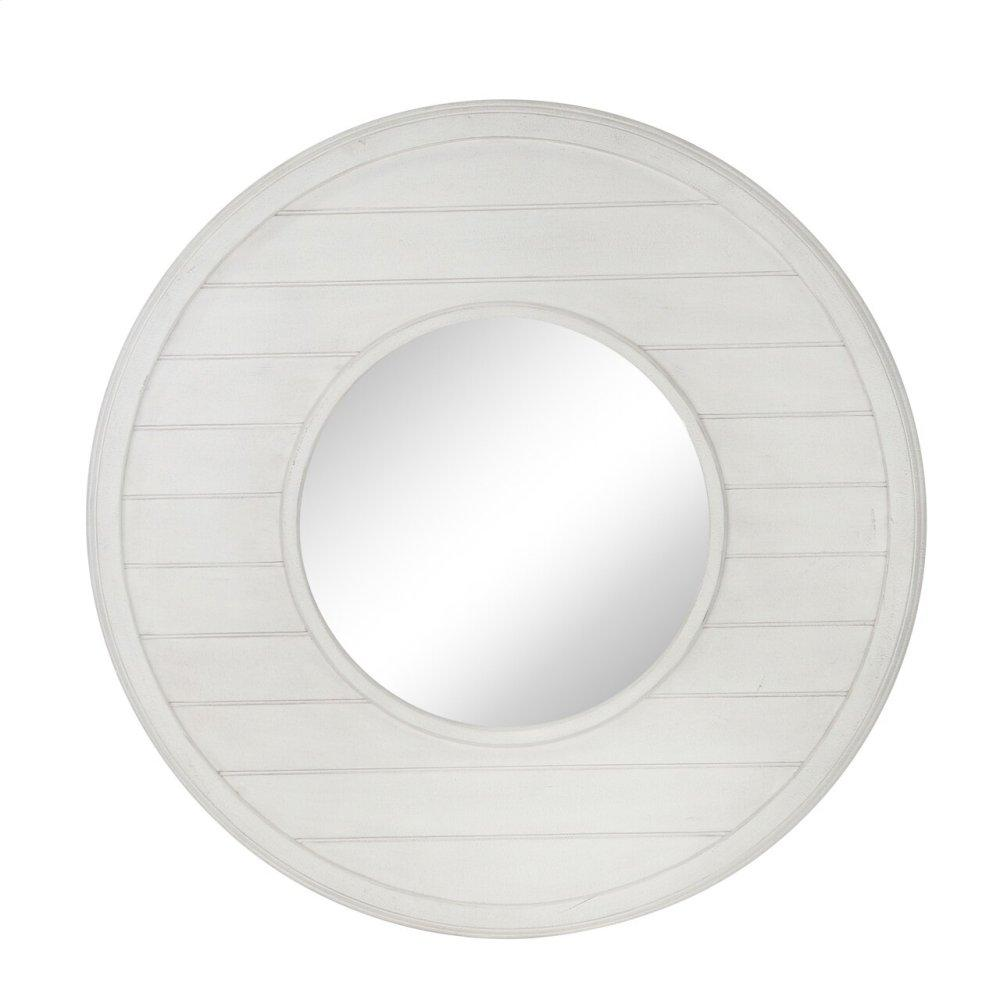 "Wood Frame 31.5"" Wall Mirror, Antique White Wb"