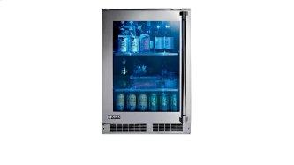 "24"" Outdoor Glass Door Refrigerator, Left Hinge"