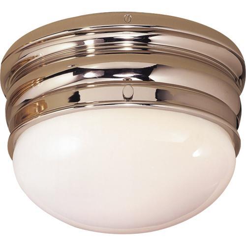 Visual Comfort CHC4201PN E. F. Chapman Crown 1 Light 7 inch Polished Nickel Flush Mount Ceiling Light