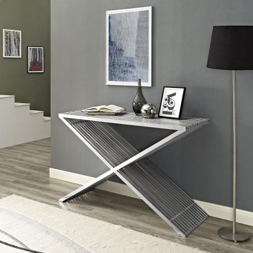 Modway - Press Console Table in Silver