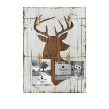 Deer Bust Picture Holder W/ Bullet Clothes Pins