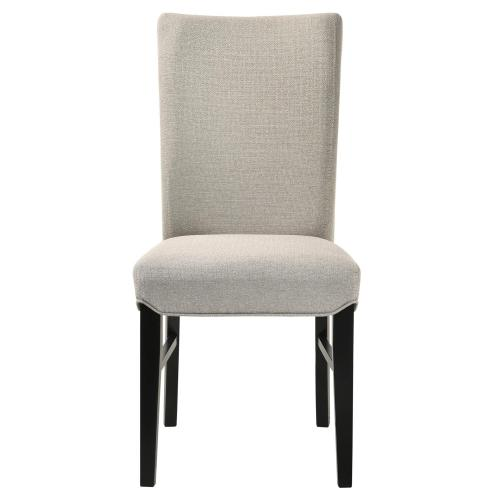 Levi KD Fabric Dining Side Chair, Summit Gray