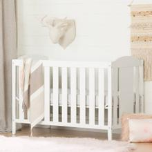 Crib and Toddler Bed - Convertible Nursery Furniture for your Baby - Pure White
