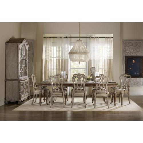 Chatelet Rectangle Leg Dining Table with Two 18'' Leaves