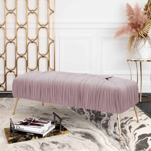 Product Image - Jessica Mauve Velvet Bench by Inspire Me! Home Decor