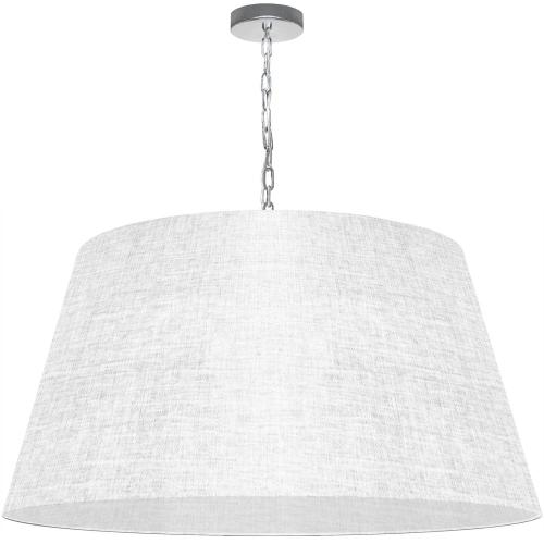 1lt Brynn X-large Pendant, White/clear Shade, PC