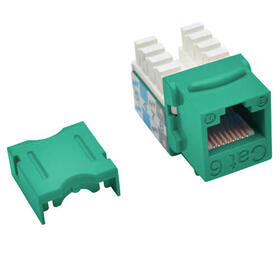 Cat6/Cat5e 110 Style Punch Down Keystone Jack - Green, TAA