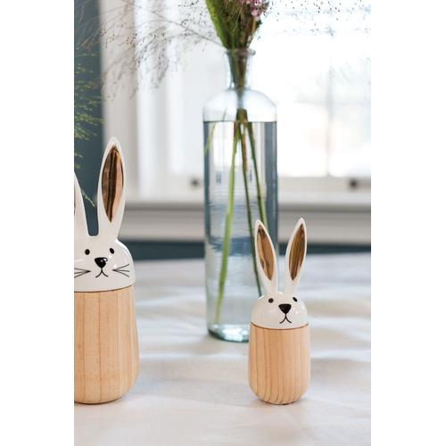 """Product Image - Hop-A-Long Bunny Figurine (Size:1.75""""x 5.25"""", Color:White)"""